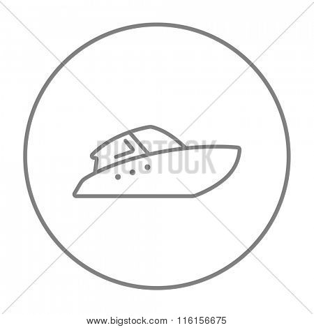 Speedboat line icon.