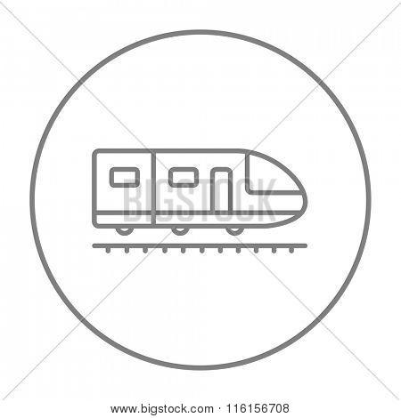 Modern high speed train line icon.