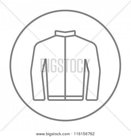 Biker jacket line icon.