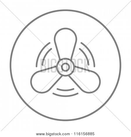 Boat propeller line icon.