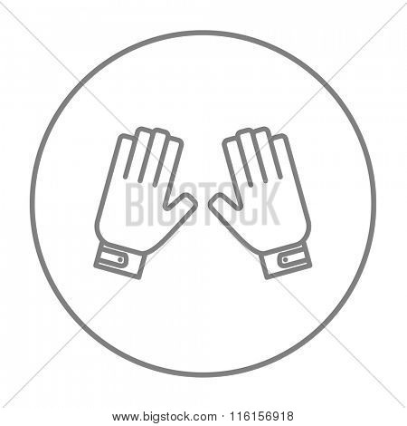 Motorcycle gloves line icon.