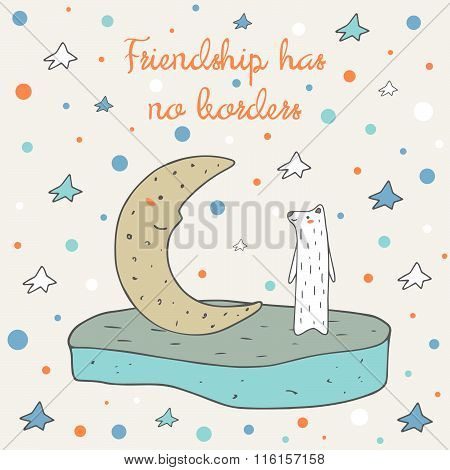 Postcard about friendship
