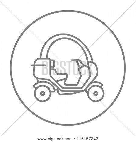Rickshaw line icon.