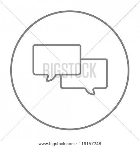 Speech squares line icon.