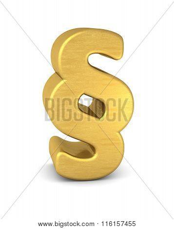3d Symbol Paragraph Gold Vertikal