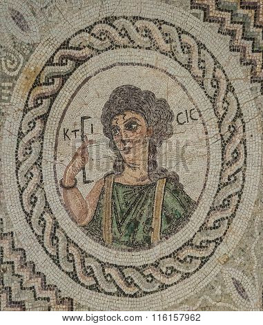 Mosaic In Kourion, Cyprus