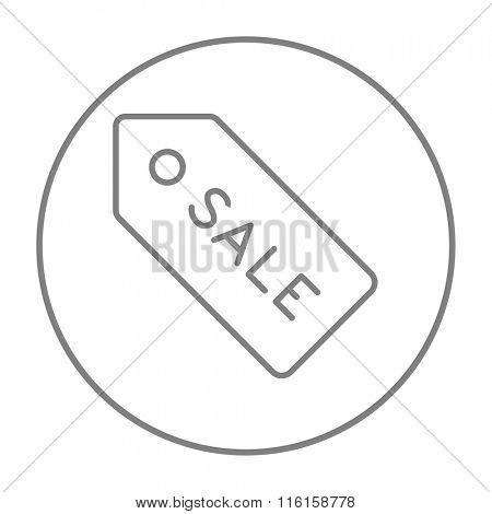Sale tag line icon.