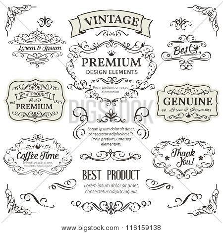 Calligraphic Design Elements .