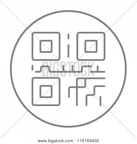 QR code line icon.