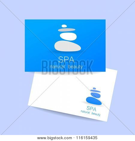 SPA - template logo for Spa lounge, beauty salon, massage area, yoga center, natural cosmetics etc. Symbol of harmony, tranquility and relaxation. Massage sign,  beauty,  relax, spa treatment.