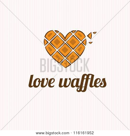 Waffles In The Shape Of Heart