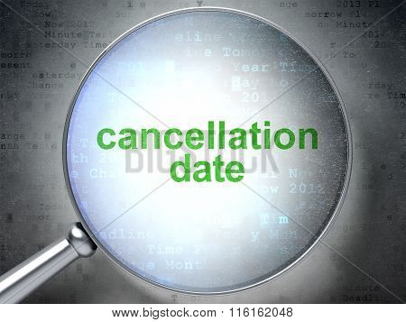 Timeline concept: Cancellation Date with optical glass