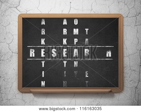 Advertising concept: Research in Crossword Puzzle