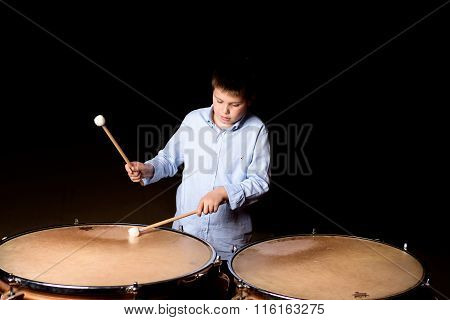 Little Drummer With Drumsticks