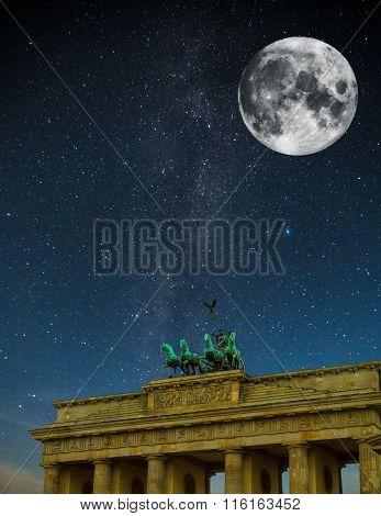 Brandenburg Gate Night.