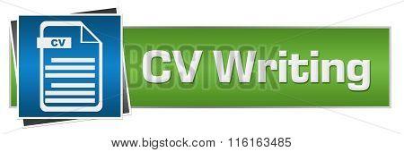 CV Writing Green Blue File Horizontal