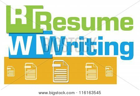 Resume Writing Abstract Colorful Stripes