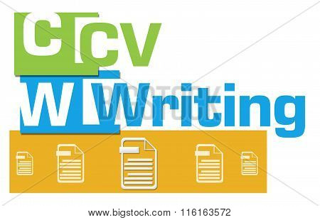 CV Writing Abstract Colorful Stripes