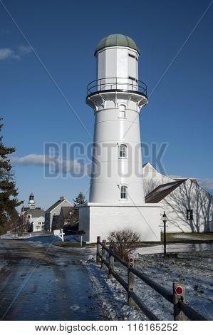 Cape Elizabeth Range Light in Maine Winter