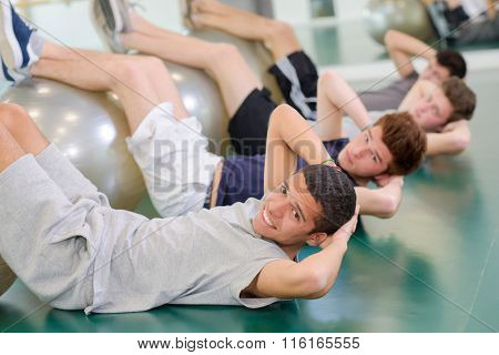 men in the gym