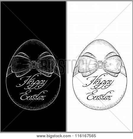Hand drawn easter egg