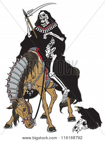 grim reaper sitting on a horse