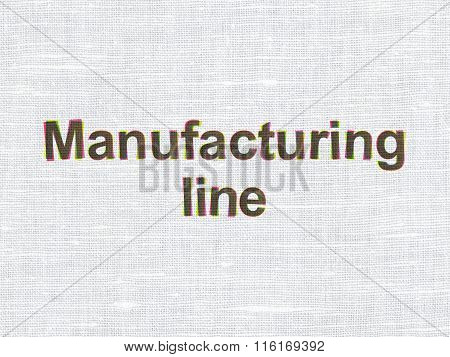 Industry concept: Manufacturing Line on fabric texture background