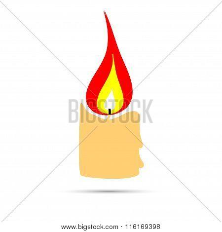 Burning Candle Sign
