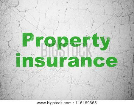 Insurance concept: Property Insurance on wall background