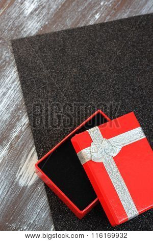 Red Gift Box for Valentines Day
