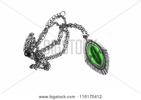 Necklace On White