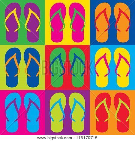 Pop Art Flip Flops