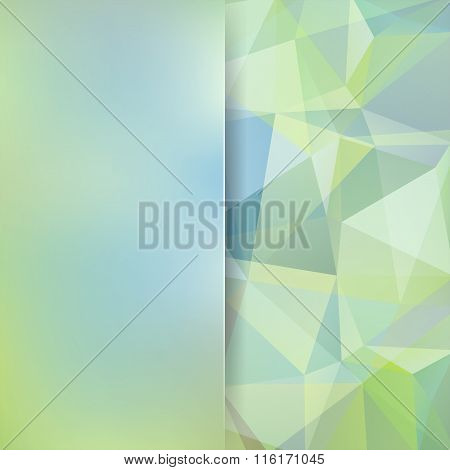 Abstract Geometric Style Green Background. Pastel Business Background Blur Background With Glass. Ve
