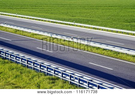 Highway through the field