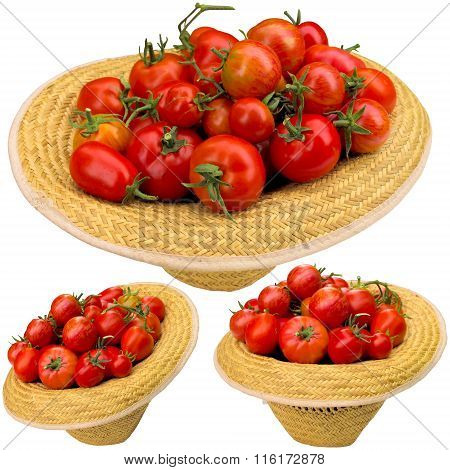 Red Tomatoes In A Hat.