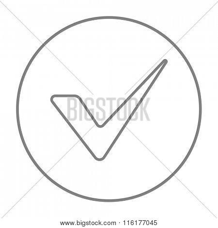 Tick line icon.