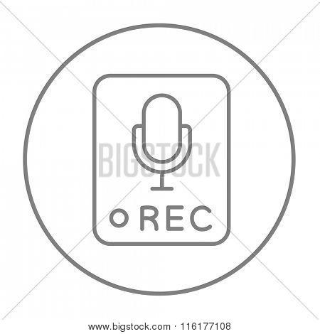 Record button line icon.