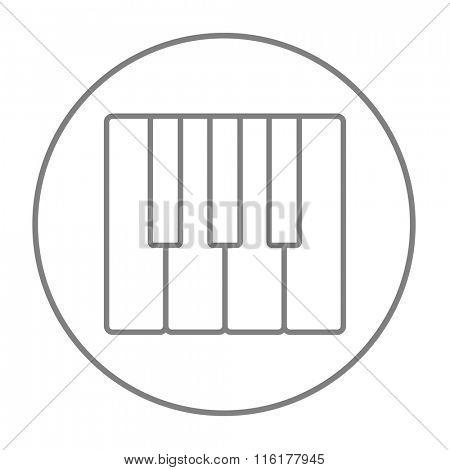 Piano keys line icon.