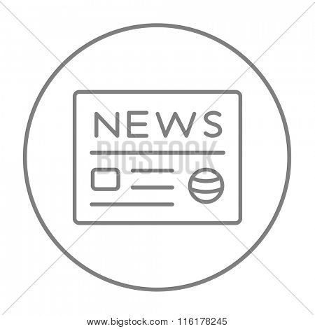 Newspaper line icon.
