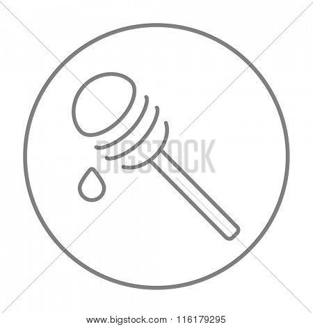 Honey dipper line icon.