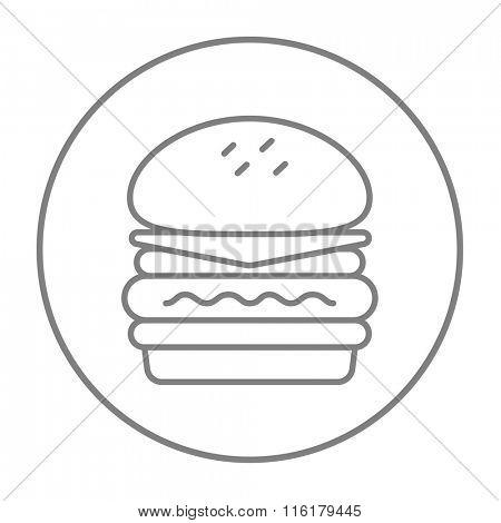 Double burger line icon.