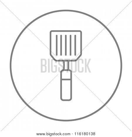 Kitchen spatula line icon.