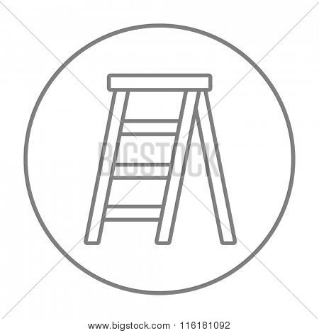 Stepladder line icon.