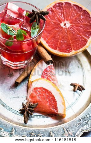 Grapefruit Cocktail With Spices