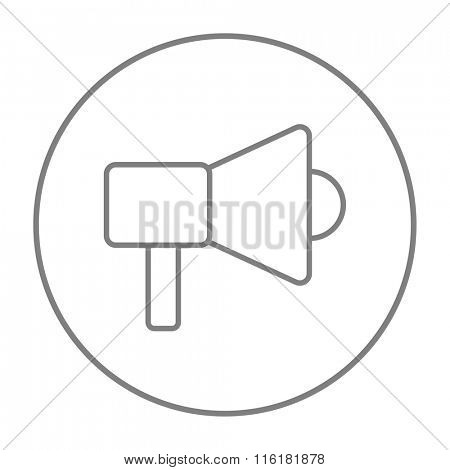 Mmegaphone line icon.
