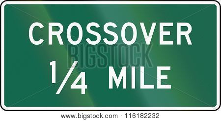 United States Mutcd Guide Road Sign - Crossover