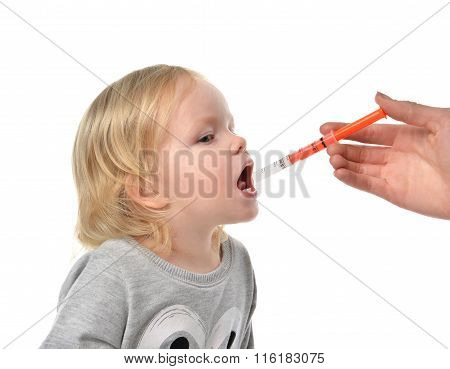 Baby Toddler Child Take An Oral Medical Suspension An Ibuprofen