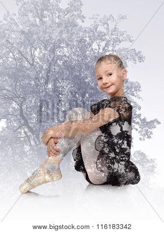 Girl Dances Ballet