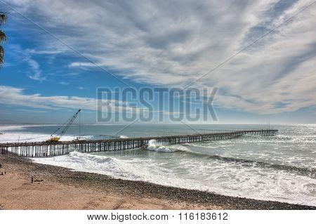 Ventura pier under repair
