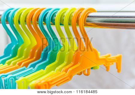 Set Of Colorful Coat Hanger Hanging